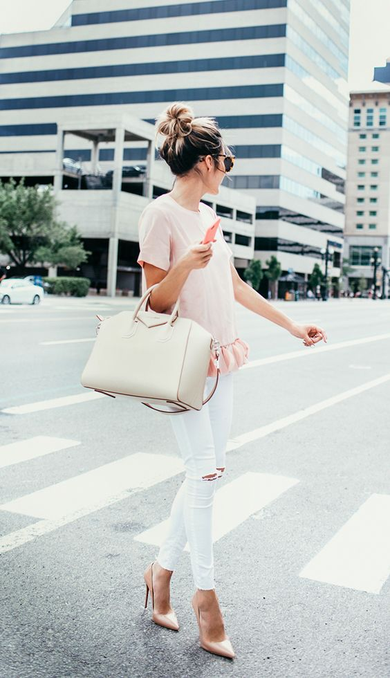 Pink Ruffled Top | Hello Fashion: