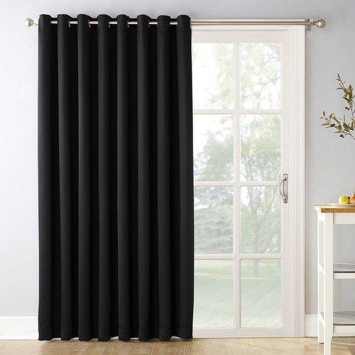 Sun Zero Blackout 1 Panel Ludlow Patio Door Window Curtain 100 X 84 Sliding Patio Doors Patio Door Curtains Door Curtains