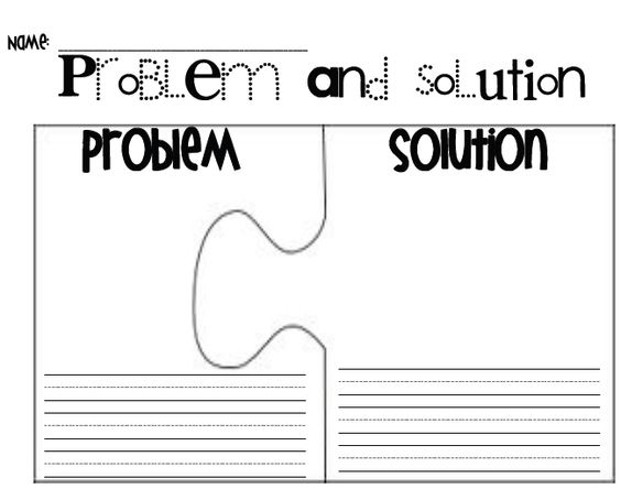 Printables Problem And Solution Worksheets problem and solution student graphic organizers on pinterest could have these pre written give a piece to each