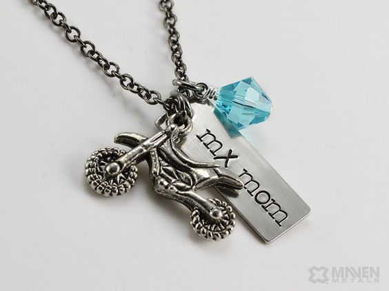 mx necklace dirt bike charm number race necklace