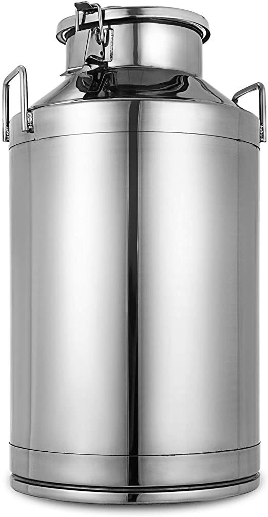 Mophorn 304 Stainless Steel Milk Can 50 Liter Milk Bucket Wine Pail Bucket 13 25 Gallon Milk Can Tote Jug With Sealed Lid Heavy Duty In 2020 Milk Cans Pail Bucket Pail