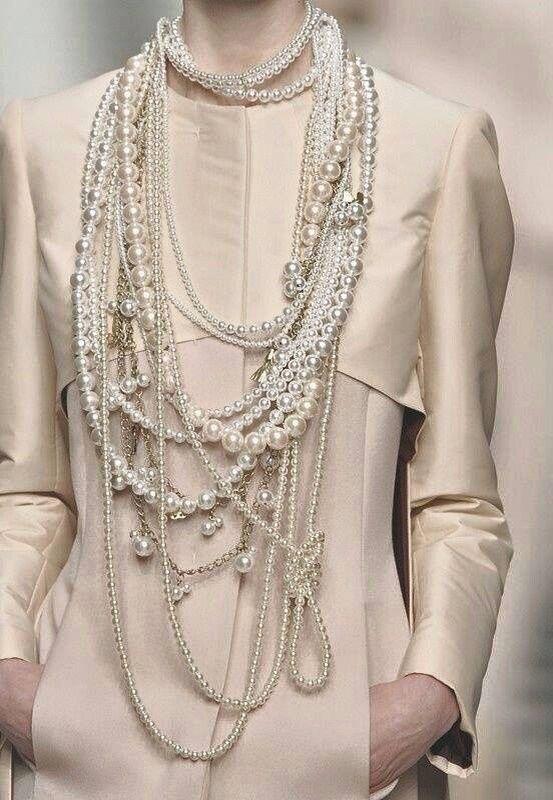 Lo bien que se ven las perlas blancas