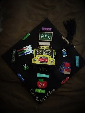 This is my #2014 #graduation #cap with an #education #theme #graduationcap #educationtheme