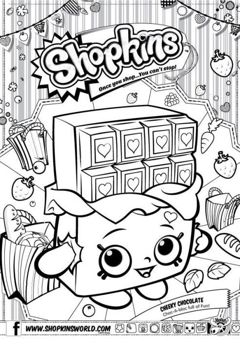 Shopkins Coloring Pages Season 1 Cherry Chocolate Shopkins Colouring Pages,  Shopkins Birthday Party, Shopkin Coloring Pages