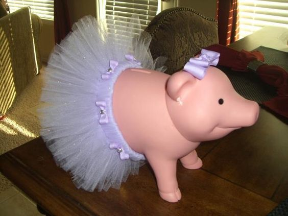 Decorated piggy bank