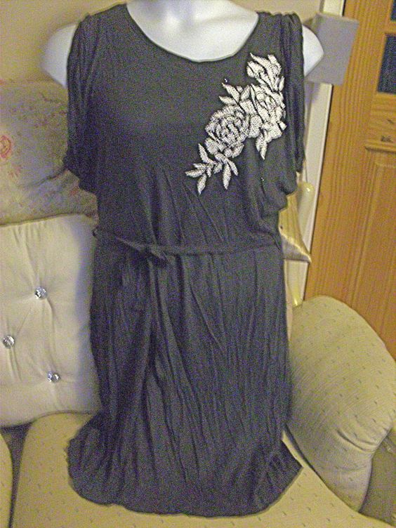 Ex~Evans Long Jewelled Tunic Dress/Top with Belt, Size 16, NEW!!!