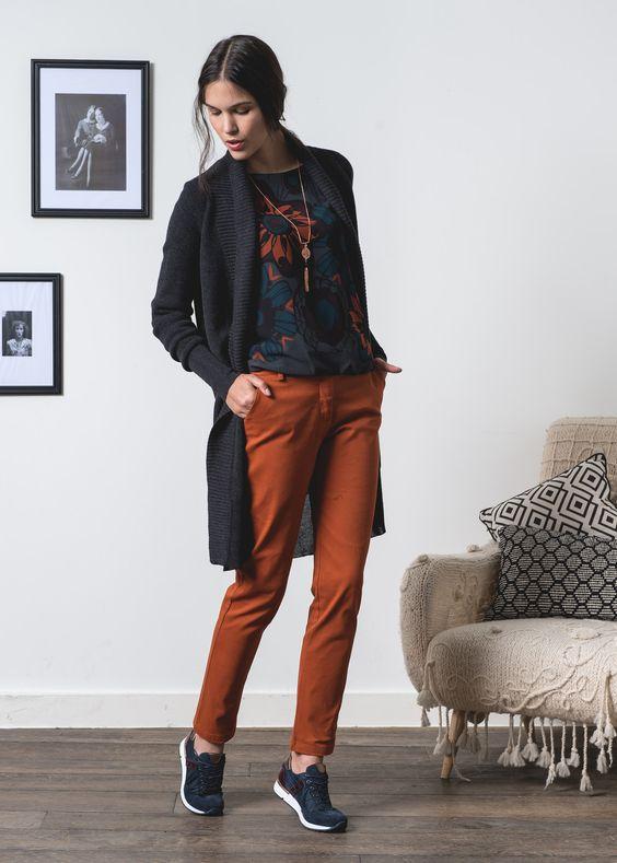 Pantalon en toile de coton. #pantalon #femme