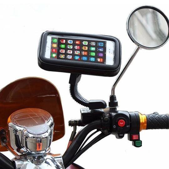 Motorcycle Bike Handlebar Holder Mount Waterproof Bag Case For Cell Phone GPS BR