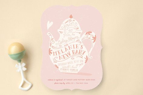 Sip & See Baby Shower Invitations