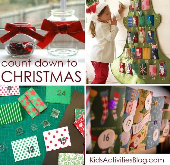 A collection of several different ways to do advent calendars to help your kids anticipate Christmas!!