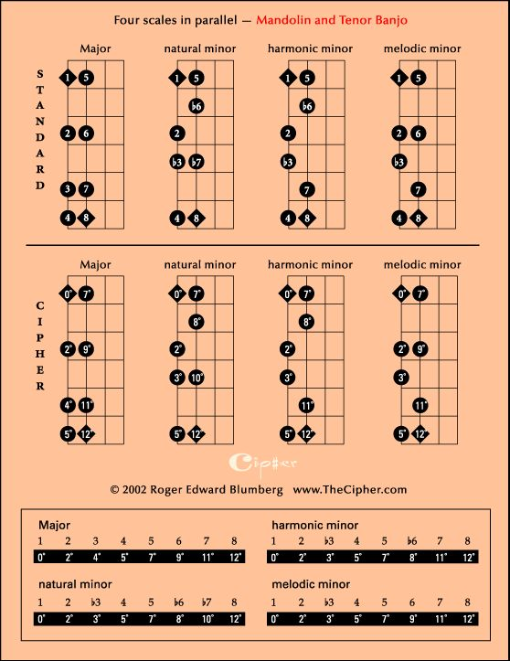 Mandolin/Tenor Banjo Scales | Banjo and bass | Pinterest ...