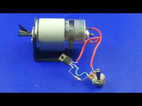 How To Make Dc Motor Speed Controller New Idea 2020 Youtube Motor Speed Electronics Projects Diy Diy Electrical