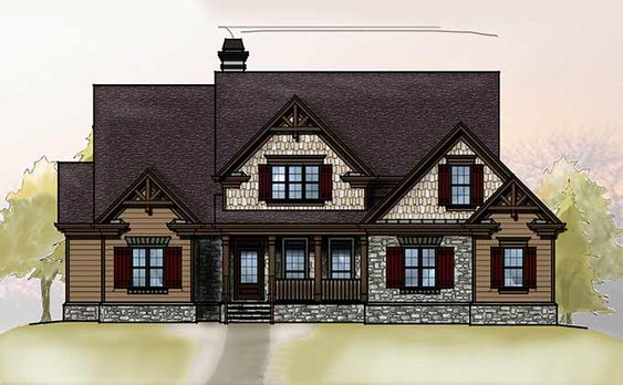 Craftsman style homes craftsman style and vertical siding for Craftsman style lake house plans