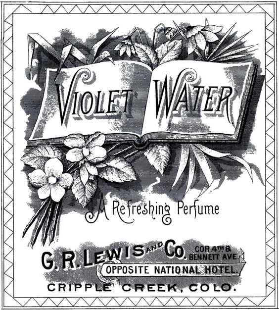 Vintage Violet Water Image! - The Graphics Fairy