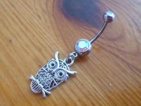 Belly Button Ring - Owl Belly Button Ring. $10.00, via Etsy. Someday I am going to hit my target weight and get my belly button pierced and buy this little owl charm and be awesome.