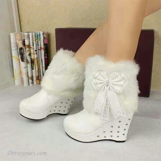want and these white wedge boots shoe