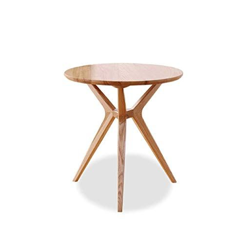Nordic Solid Wood Coffee Table Mini Balcony Living Room Round