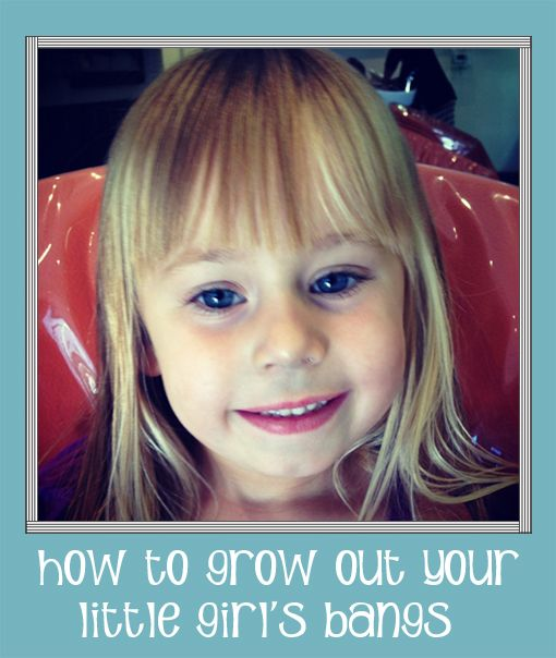 How To Grow Out Your Little Girl's Bangs