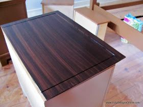 Lucy Designs: Gel Stain over White Furniture