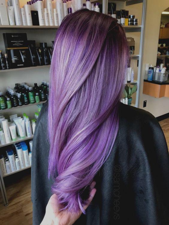 warna rambut lilac atau ungu