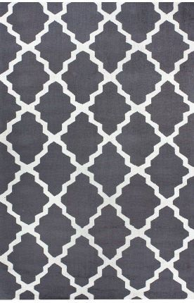 Homespun Modern Trelllis Charcoal Rug.  Site with good rug sales.  Mels' friend said she just got a rug here for 75% off.