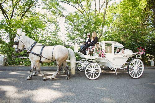 Romantischer Traum in Weiß: Die Hochzeitskutsche   Foto: Charmewedd