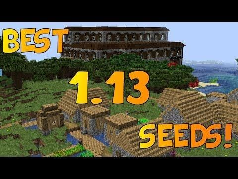 Top 5 EPIC Seeds For Minecraft 1 13 Aquatic Update [2018