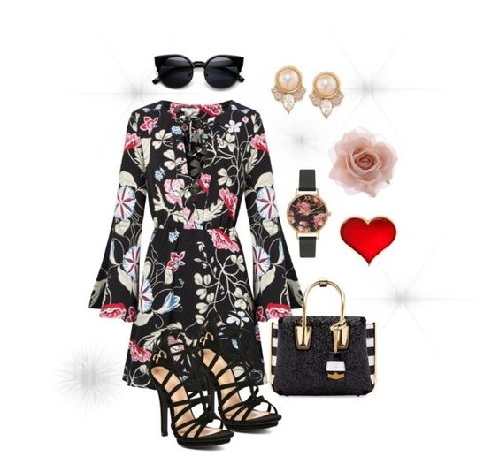 """Rumor Has It"" by davisaudrey on Polyvore featuring MCM, Olivia Burton, Accessorize, Carolee, women's clothing, women, female, woman, misses and juniors"