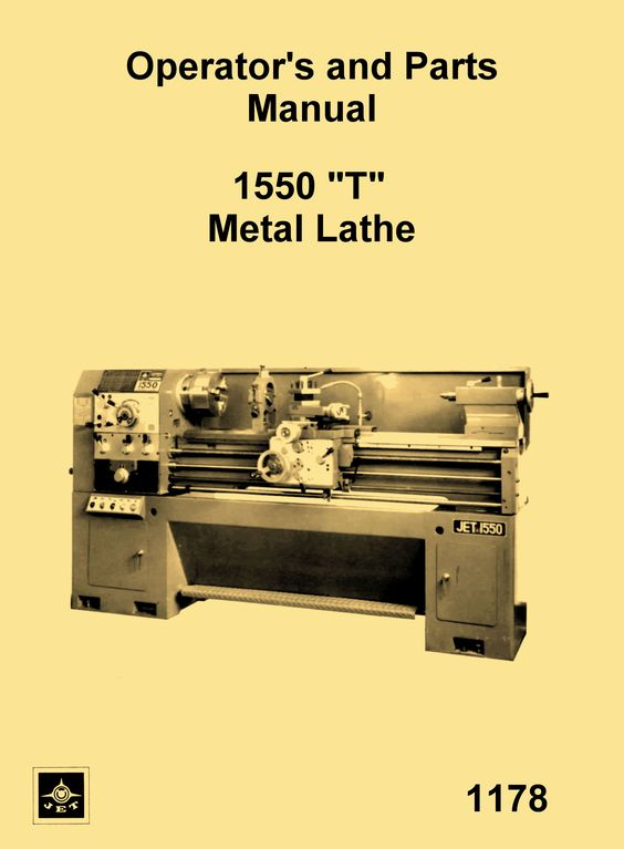 Jet Enco Msc Asian 1550 T Metal Lathe Instructions Parts Manual Ozark Tool Manuals Books Metal Lathe Instruction Lathe