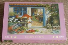 HOUSE OF PUZZLES Jigsaw Puzzle GARDEN VISITORS 1000 pieces Cat & Hedgehogs