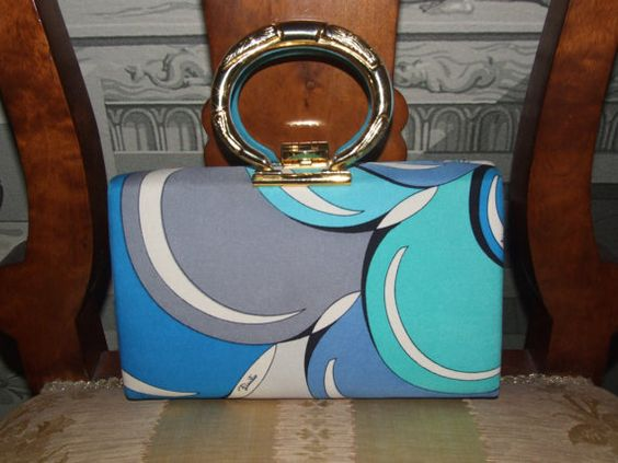 EMILIO PUCCI Signature Print Silk Box Made in Italy by MAChic