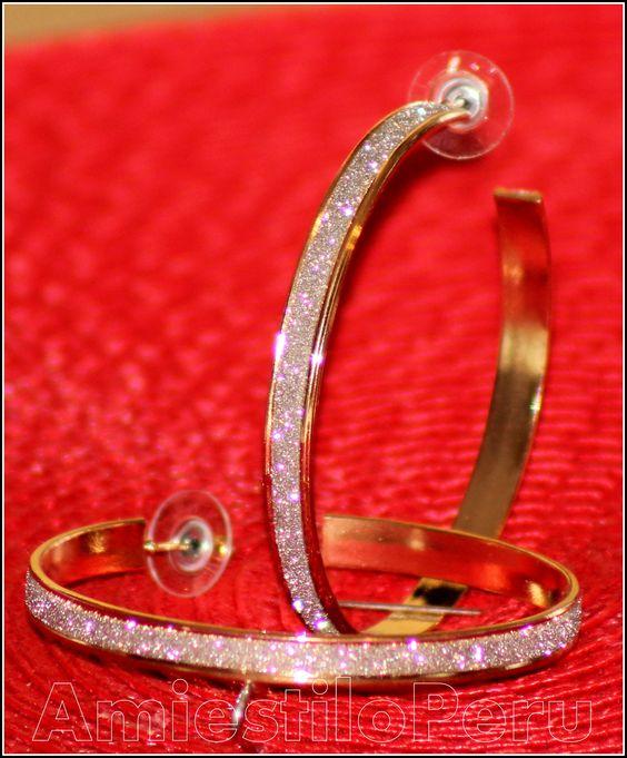 Estas argollas me fascinaron . parece que llevaran diamantitos !!! at Burlintong.