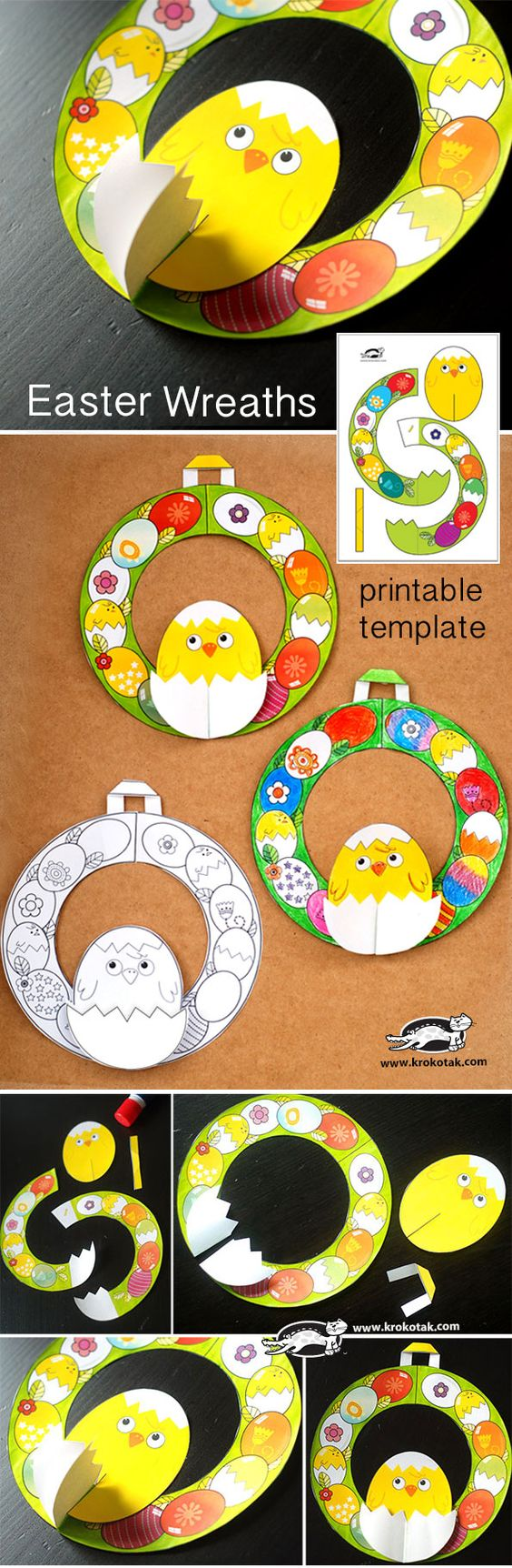 Easter Wreaths + templates: