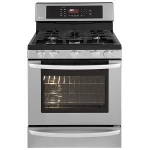 LG Electronics 5.4 cu.ft. 30 in. Freestanding Gas Self-Cleaning Convection Range in Stainless Steel $1349