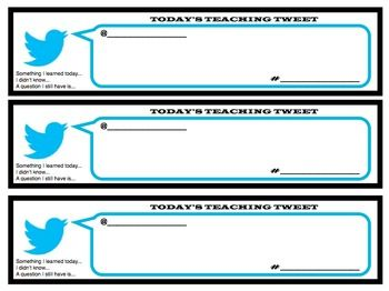 TWEETS ABOUT TODAY'S LESSON: A FUN EXIT PASS TO CHECK STUDENT UNDERSTANDING - TeachersPayTeachers.com