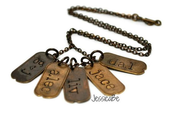Dog Tag Necklace Mommy Necklace by JessicaBe on Etsy