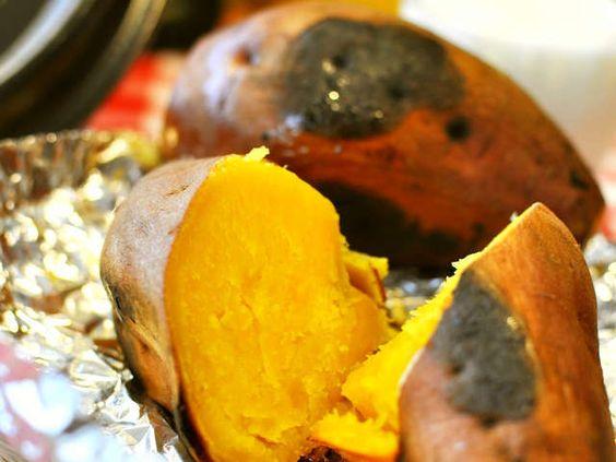安納芋のねっとりした感じがおいしそうな焼き芋です。