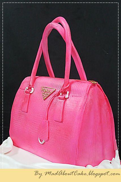 prada navy blue handbag - Prada hot pink cake - Handbag cake :)   Cool Cake Stuff ...