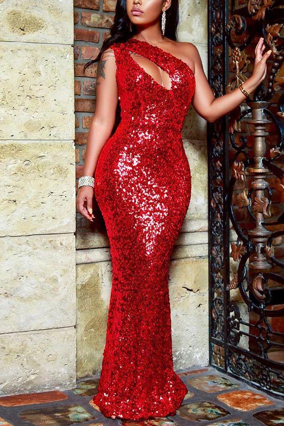 vestido de formatura elegante um lado sexy