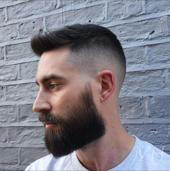 hairstyle with beard for round face