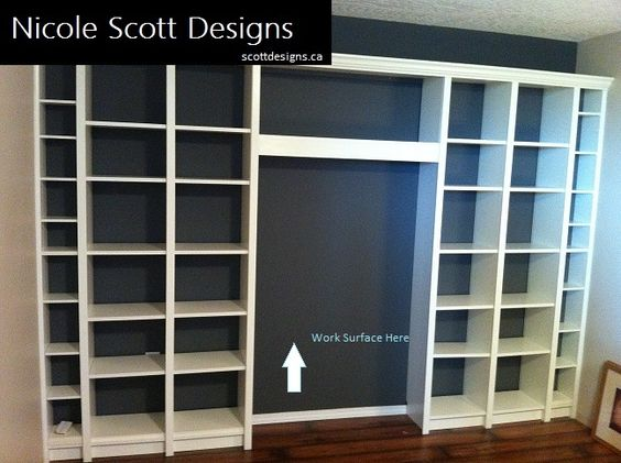 Billy Bookcase Desk: Ikea, Bookcases And Ikea Billy On Pinterest