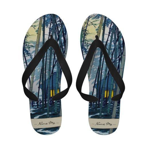 Shiro Kasamatsu Bamboo in Early Summer art Flip Flops#flipflops #slippers #bamboo #summer #japanese #personalized #customized