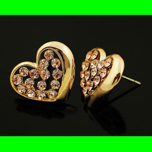Heart Filled With Rhinestone Earrings | LilyFair Jewelry, $10.99!