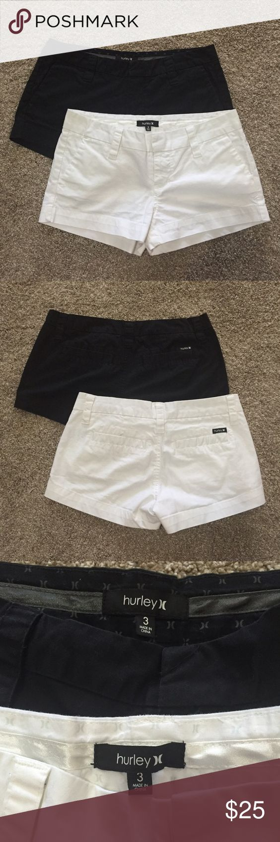 Hurley shorts Black and white shorts, brand new condition. Smoke free home. Would like to sell as set, but willing to break up. Hurley Shorts