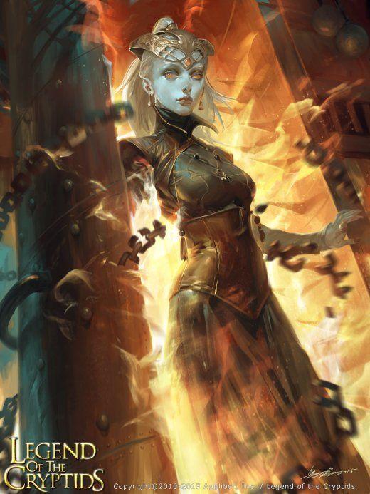 Anjos e demônios nas ilustrações de fantasia para games de Cheng Xu a.k.a. Crow God