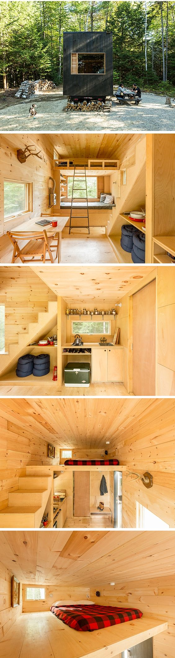 The Ovida tiny house a 160 sq ft vacation rental at the Getaway
