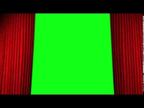 stage cinema curtain opening green
