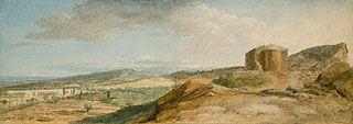 ean-Pierre-Louis-Laurent Hoüel  French, 1776 - 1779  Gouache and black chalk 14 15/16 x 42 3/16 in.  2001.46