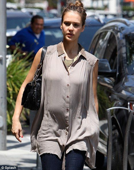 Looking swell: Jessica Alba has been glowing during her second pregnancy and has…