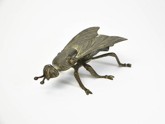 Hey, I found this really awesome Etsy listing at https://www.etsy.com/listing/255994605/vintage-bronze-insect-statuette-french
